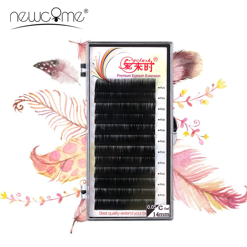 False Mink Extensia genelor, genelor individuale, Coreea de mătase Volum genelor Fake Soft Eyelash Extension Makeup Tool