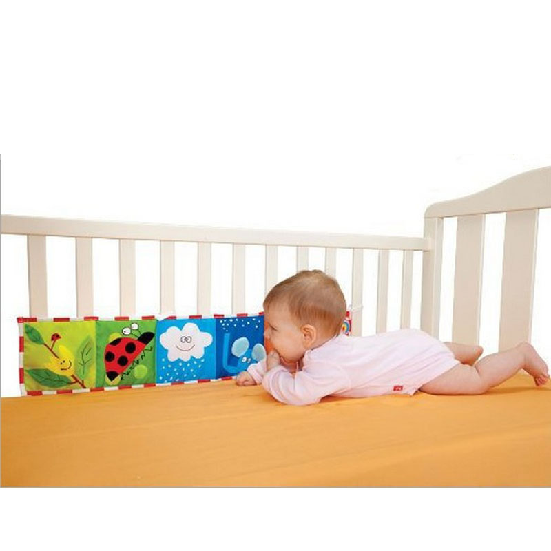 colorful baby bumper cloth book knowledge bed around crib bed protector fun toy bedding