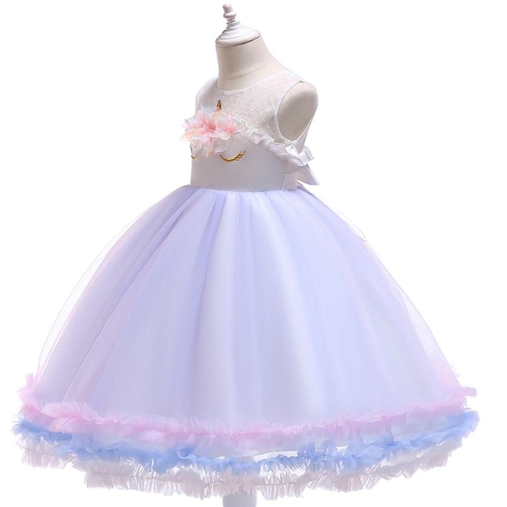 14024f657d Fashion New Baby Kid Girls Dress Unicorn Flower Tutu Tulle Princess Dress  for Girls Birthday Wedding. sku: 32959979243