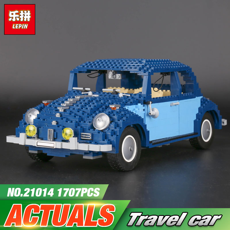 Lepin 21014 1707Pcs Technic Classic Series The Ultimate Beetle Set children Educational Building Blocks Bricks Toys Model 10187 1707pcs new lepin 21014 classic beetle model car building kits blocks bricks for children christmas gifts legoinglys 10187