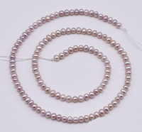 AA 3 4MM Genuine Freshwater Pearl Loose Beads,Lavender Off Round Real Pearl ,Small Pearl Beads One Sale,New Free Shipping