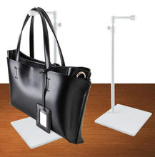 c79aaca594b8 New arrival Thicken base handbag display stand men women bags display rack  adjustable metal hat wig Purse scarves holder rack