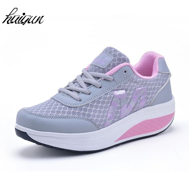 Shoe Mesh Slip-On Breathable Casual Women Summer Lady Fitness Upper EU Increasing New-Height
