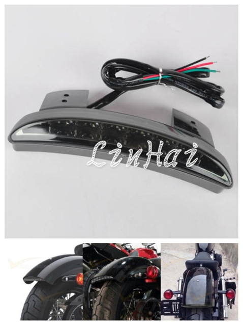 US $12 21 6% OFF|New Motorcycle Smoke Lens Rear Fender Edge LED Tail Light  Fits For Harley Iron 883 XL883N XL1200N Chopped on Aliexpress com | Alibaba