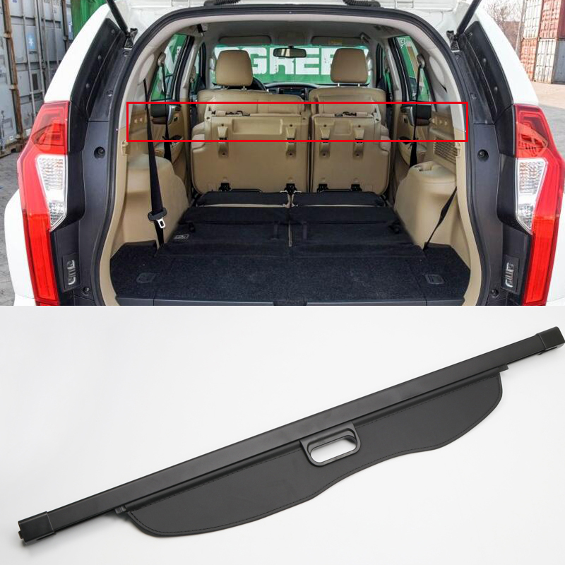 Car Styling Cargo Cover Security Shield Black Rear Trunk Cargo Cover For Mitsubishi Pajero Montero Shogun Sport 2016 2017 2018 car styling for mitsubishi ralliart water spray cover metal