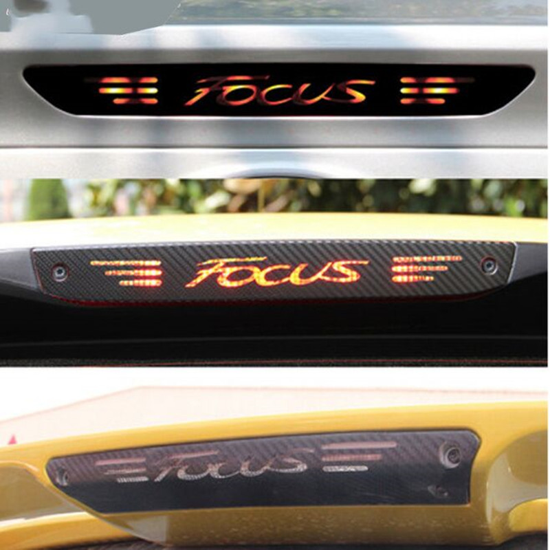 car-styling Stickers And Decals High Mounted Stop Brake Lamp Light Car Styling For Ford Focus 2 3 MK2 MK3 2005-2017 Accessories carbon fiber stickers and decals high mounted stop brake lamp light car styling for suzuki swift additional brake light sticker