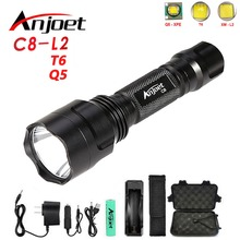 цена на Anjoet High Quality Lantern C8 Led CREE XM L2 T6 Q5 Flashlight  lanterna Torch Light Camping Flash Light lampe torch Use 18650
