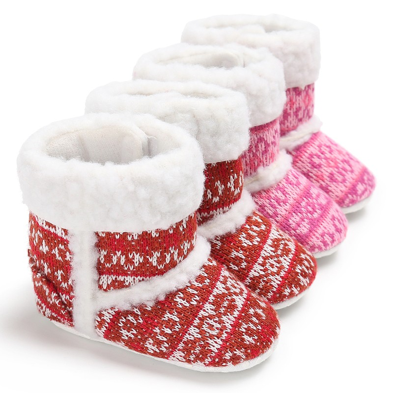 Warm Winter Newborn Baby Girl Soft Baby Winter Shoes Non Slip Boots Baby Snow Boots Christmas Gifts