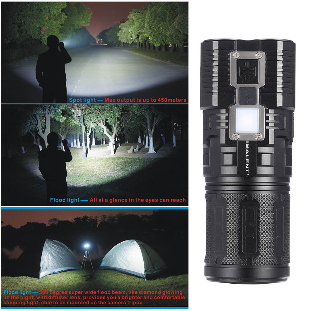 IMALENT DDT40 Touch Screen 6 LED Multi-functional Flashlight Torch  4200LM 1180LM Spot Flood Light OLED Display compass Strobe 23 6 inch ir multi touch screen overlay real 6 points ir multi touch screen 23 6 infrared touch screen frame for andorid
