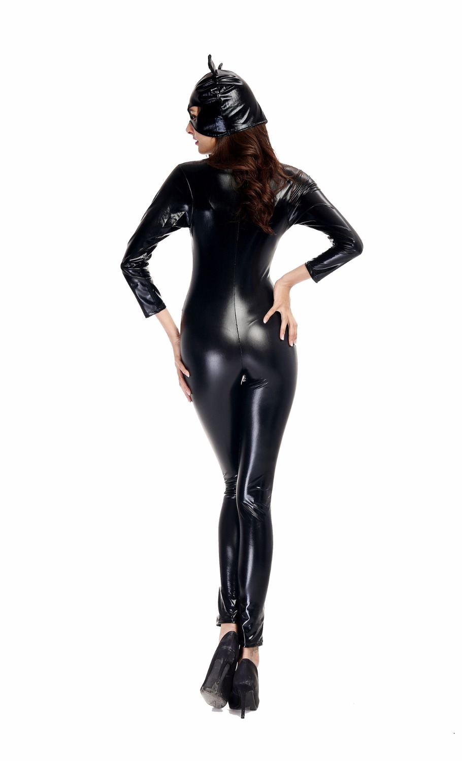 Sexy Women Leather Catwoman Costume