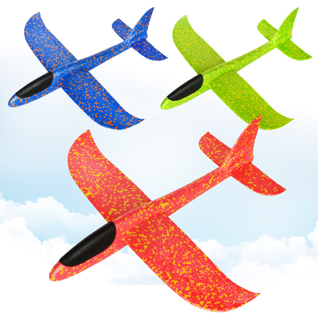 48cm Big Good quality Hand Launch Throwing Glider Aircraft Inertial Foam EPP Airplane Toy Children Plane Models Outdoor Fun Toys