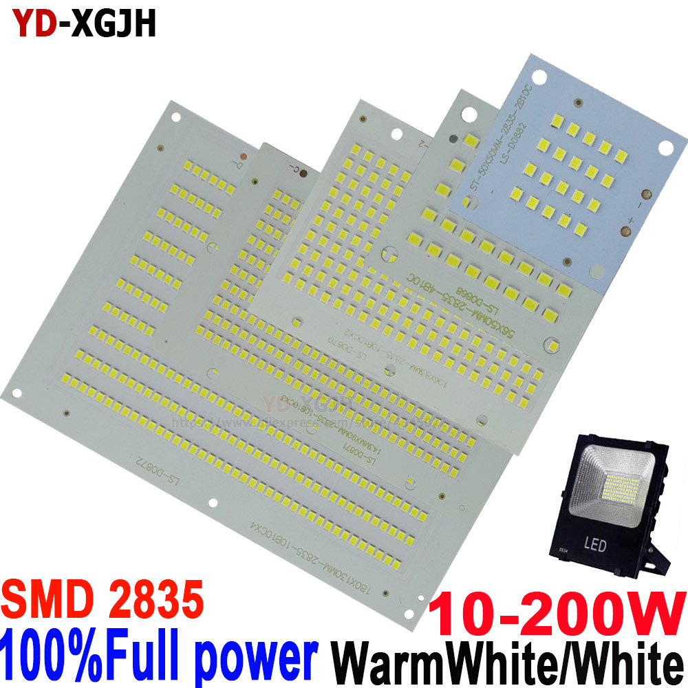 5PCS/Lot 10W 20W 30W 50W 100W 150W 200W 100% Full Power New Production SMD 2835 Led PCB Board For Lighting Source Led Floodlight