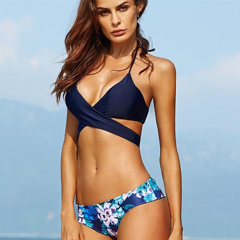Sports & Entertainment Hearty Sexy Women Push Up Bikini Sets Bra Padded Swimwear Bandage Leopard Triangle Bikini Lady Swimsuit Bathing Suit