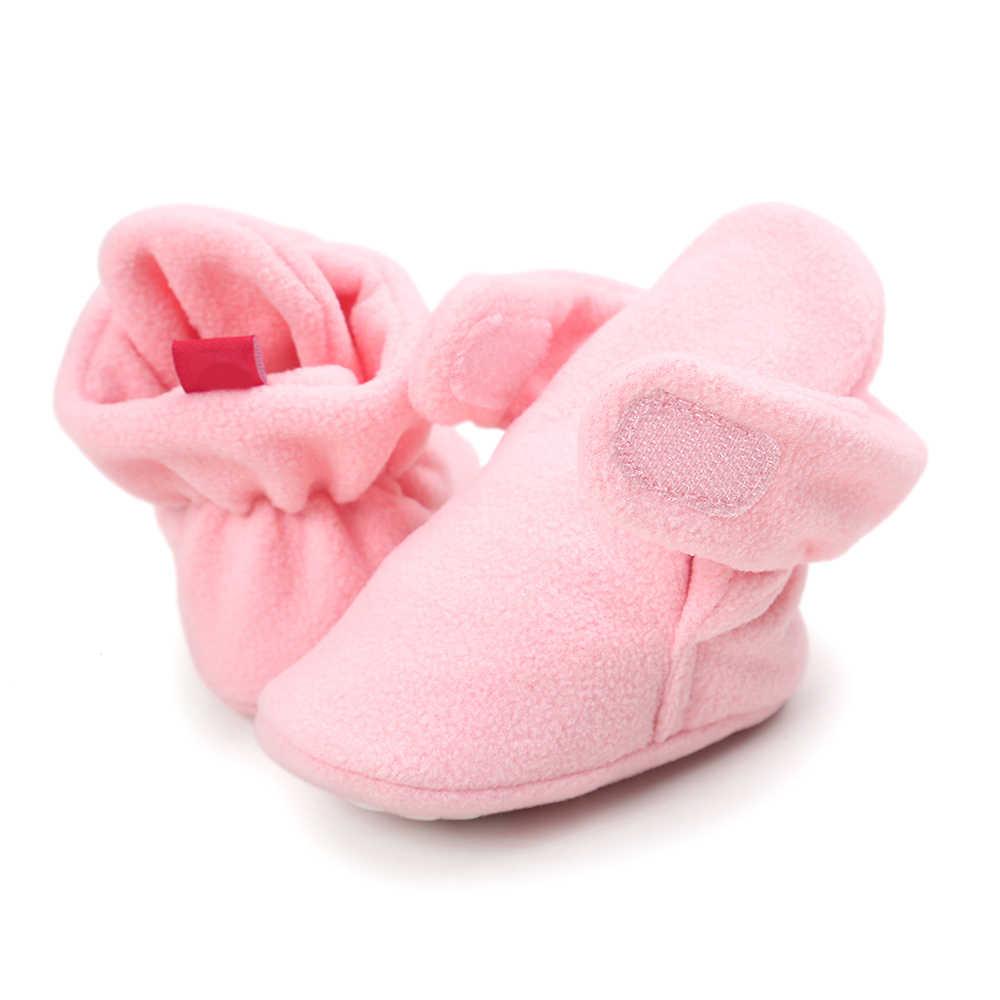 Теплая шерстяная кожаная обувь для новорожденных; зимние ботинки унисекс на мягкой подошве; детская обувь для кроватки; Зимние ботиночки; 0-18 месяцев