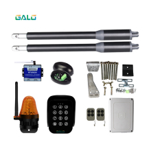 solar automatic swing gate opener motor dual arm opener operator linear actuators with remote controls Optional недорого
