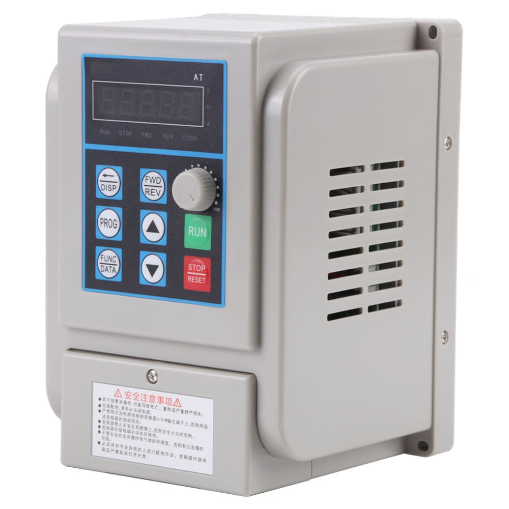 220VAC Variable Frequency Drive VFD Speed Controller for Single phase 1 5kW AC Motor