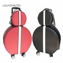 Корейский ретро для женщин сумки на колёсиках наборы Spinner милый светильник дорожные сумки 18 дюймов кабина пароль чемодан колеса