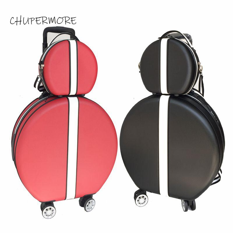 Korean Retro Women Rolling Luggage Sets Spinner Cute Light Travel Bags 18 Inch Cabin Password Suitcase Wheels