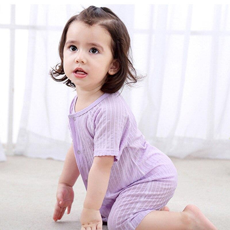2018 zomer baby meisje rompertjes katoen baby meisje kleding korte - Babykleding - Foto 3