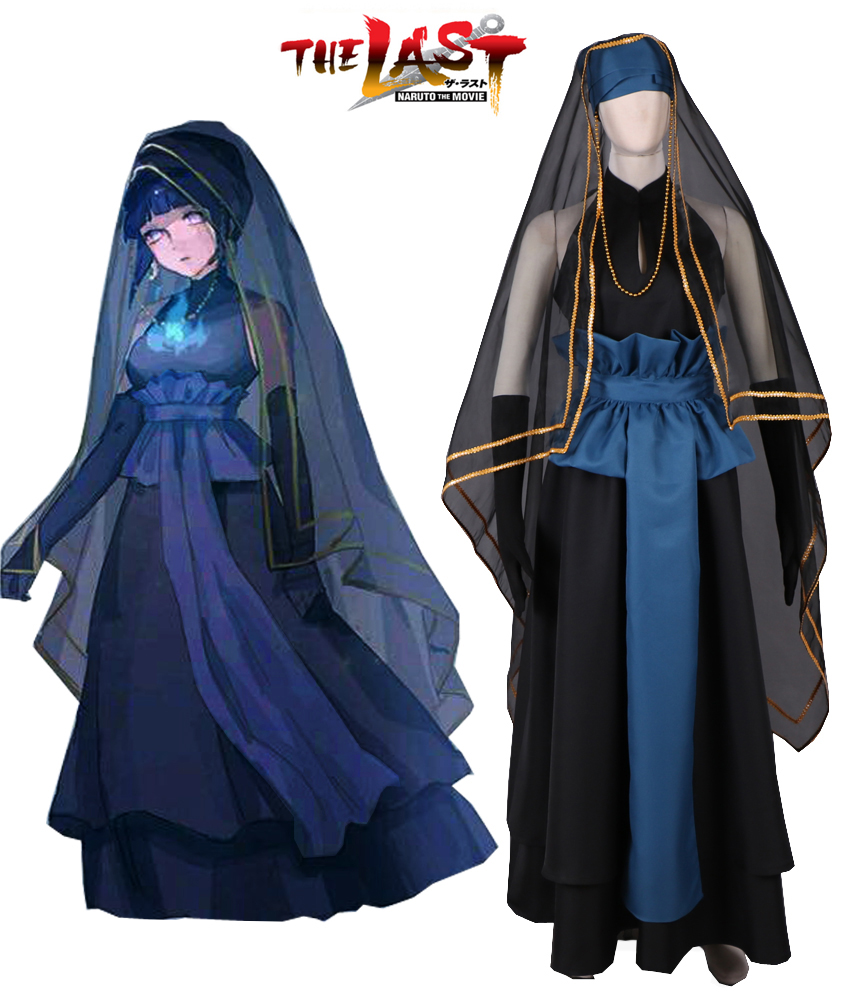 Naruto Hinata Wedding.Us 96 0 Naruto Shippuden The Last Hyuga Hinata Black Wedding Dress Cosplay Costume Custom Made On Aliexpress Com Alibaba Group