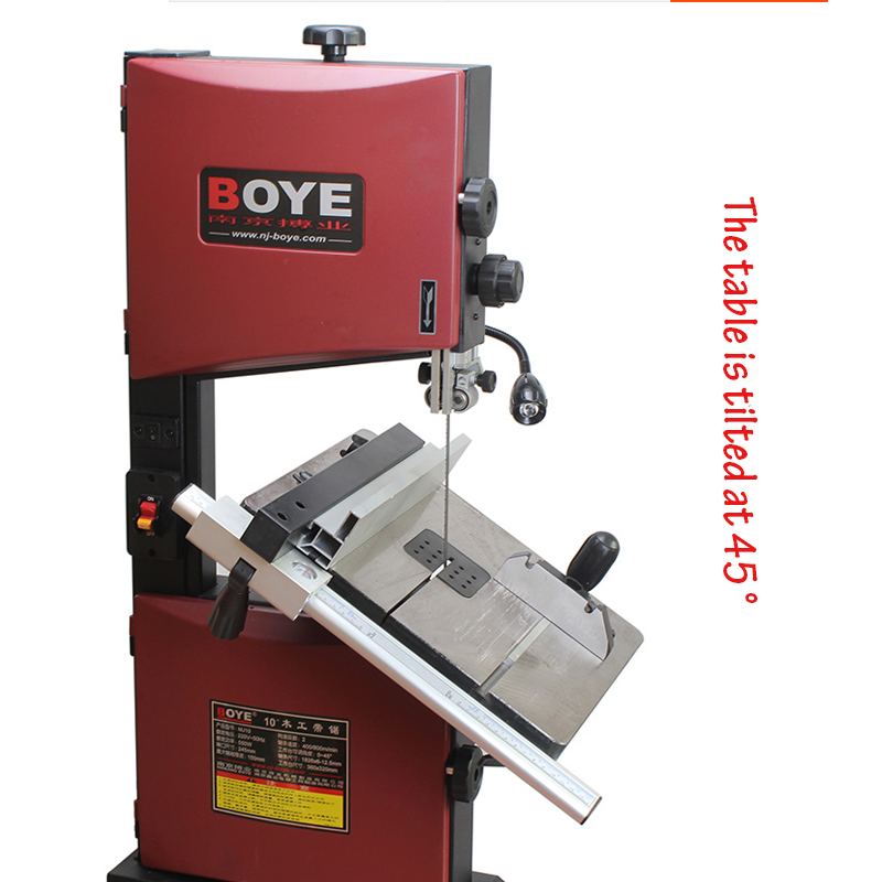 Woodworking Saw Machine DIY Cutting Tool 10 Inch Stainless Steel Board Line Sawing Machine Precision Wood Table Saw Machine MJ10