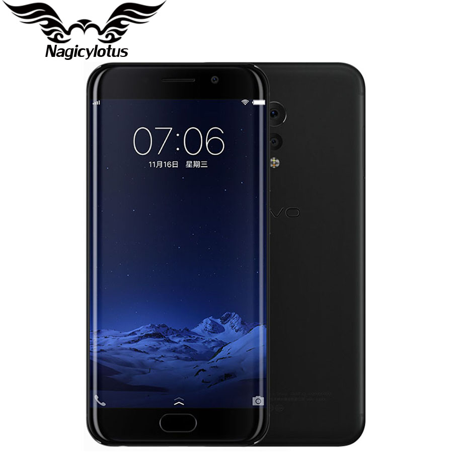 Original Vivo XPlay6 xplay 6 4G LTE Mobile Phone Snapdragon 820 5.46 inch Curved Screen 2560X1440 6GB RAM 128GB ROM 16MP Camera