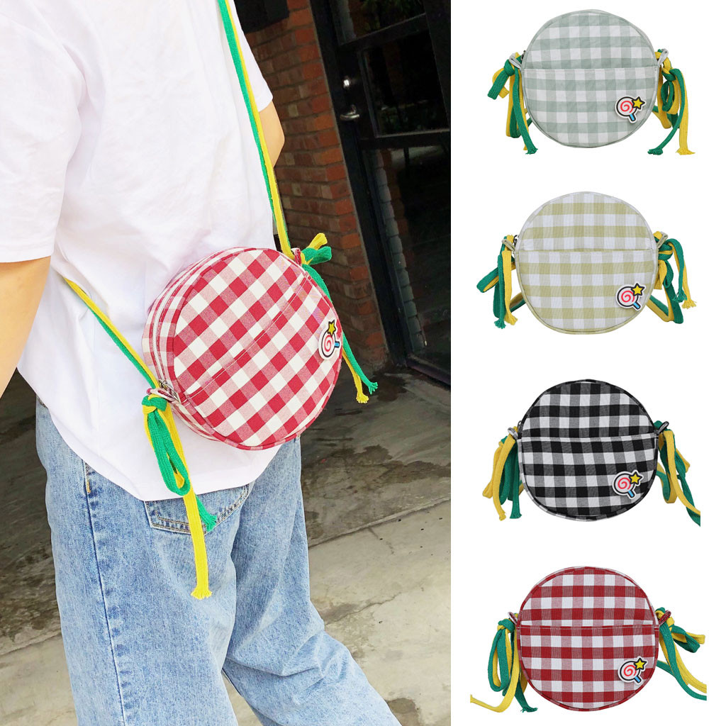 Women Bags Ribbons Messenger-Bags Crossbody-Bag Canvas Polyester Colorful Fashion Summer