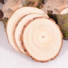 4 размера натуральный круглый деревянный ломтик чашки коврик подставка для чая кофе кружка для напитков держатель для DIY декоративная столовая посуда прочная