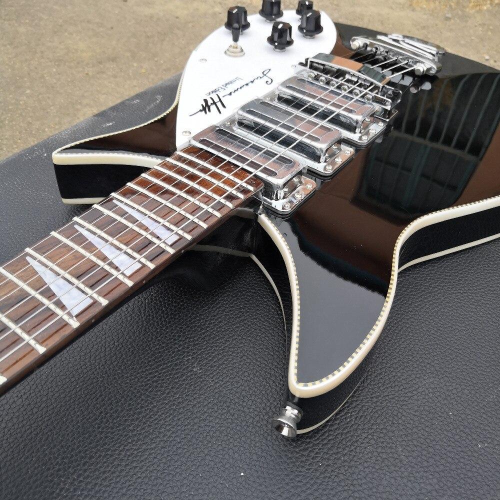 Guitare électrique modèle 350, la touche a de la peinture brillante, l'avant et l'arrière du corps sont liés, de vraies photos! - 4