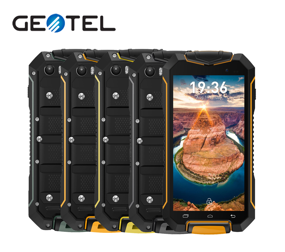 GEOTEL A1 IP67 Waterproof Dustproof MTK6580 Quad Core 8GB ROM Mobile Phone 4 5 Inch 8MP
