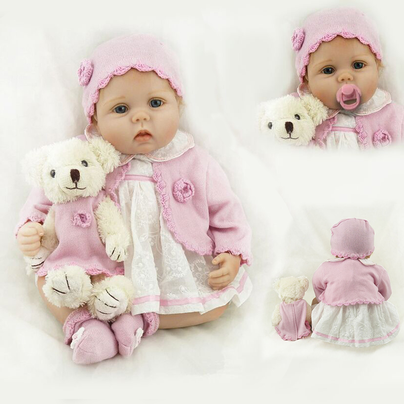 Lifelike Baby Dolls 22 Inch 55cm Smiling Realistic Soft Vinyl Reborn Dolls Kid's Birthday Chrismas Gift Juguetes Brinquedos