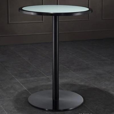 Wohnzimmer Hohe Fuss Kleine Bar Tisch Gehartetem Glas Bars Tisch Mode