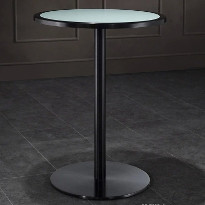 Living Room High Foot Small Bar Table Toughened Glass Bars Table Fashion Household Coffee Bar Table