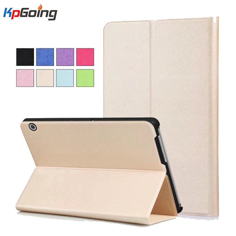 KpGoing For Huawei MediaPad T3 10 Case Fold Stand PU Leather Flip Case for Huawei MediaPad T3 10 Tablet Cover Case Fundas Black flip pu leather case for huawei t1 10 9 6 t1 a21w tablet case for huawei mediapad t1 t1 a21l t1 a23l honor note smart cover