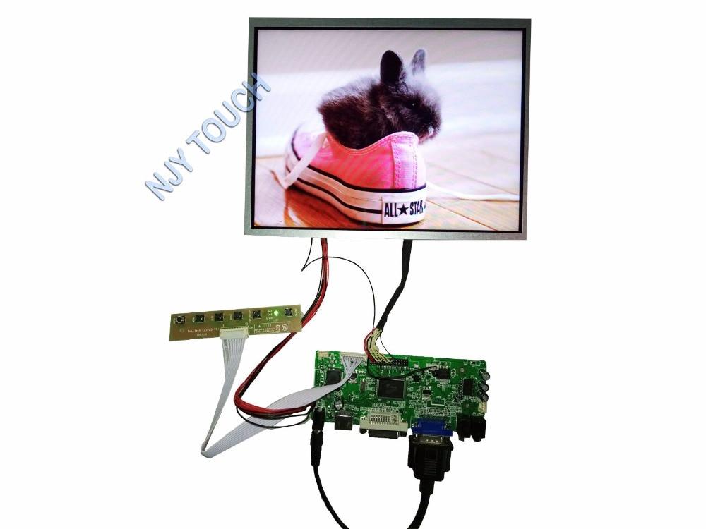 New 10.4inch G104XGE-L05 1024x768 LED Backlight Panel Plus HDMI DVI VGA Controller Board kit 775mm led backlight lamps kit w optical lens fliter for 39 40 tv monitor panel 12pcs led strips driver board
