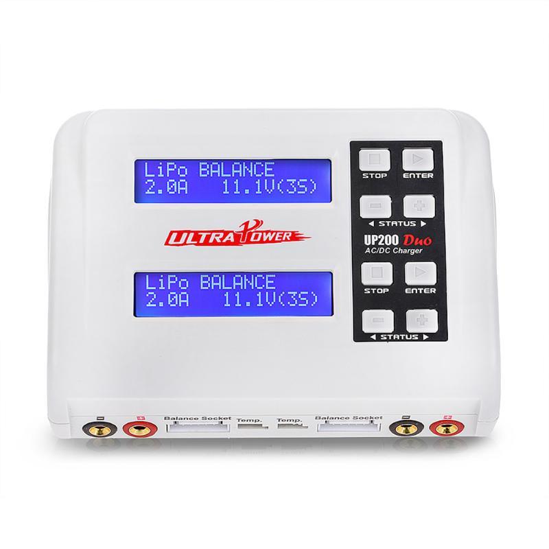 Date UP200 DUO 100Wx2 Double Port Couleur LCD Tactile Écran RC Solde Chargeur pour Lilon LiPo Vie LiHV Batterie