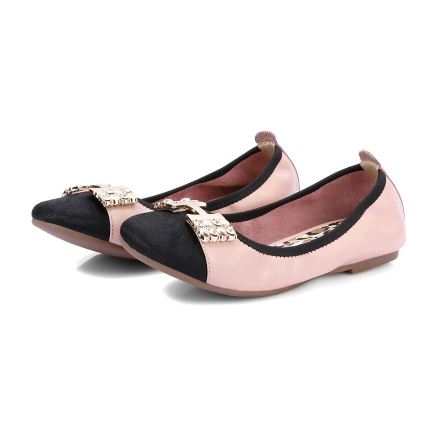 ФОТО Casual fashion as horsehair mix with suede leather rhinestone buckle end of pigskin TPR tendon square egg roll shoes