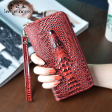 hot deal buy lee princess womens purses and wallets with 3d alligator wristlet ladies coin purses holders women purse girls wallet female