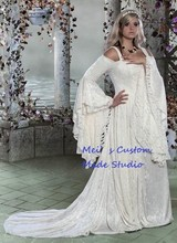 Custom Made Gwendolyn Medieval Velvet and Lace Theater Gown Custom/Stage Dress
