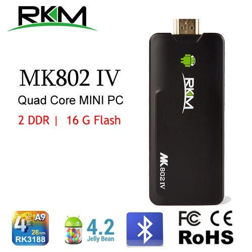 RKM MK802IV xbmc!Quad core Android 4.4 RK3188 2G DDR3 16G ROM Bluetooth HDMI [MK802IV/16G]