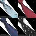 Nueva Creativo Animales Corbata Para Los Hombres de Moda Corbata De Seda De Calidad corbata Gravata Jacquard Tejido Delgado Estrecho Lazo Traje Para La Fiesta boda