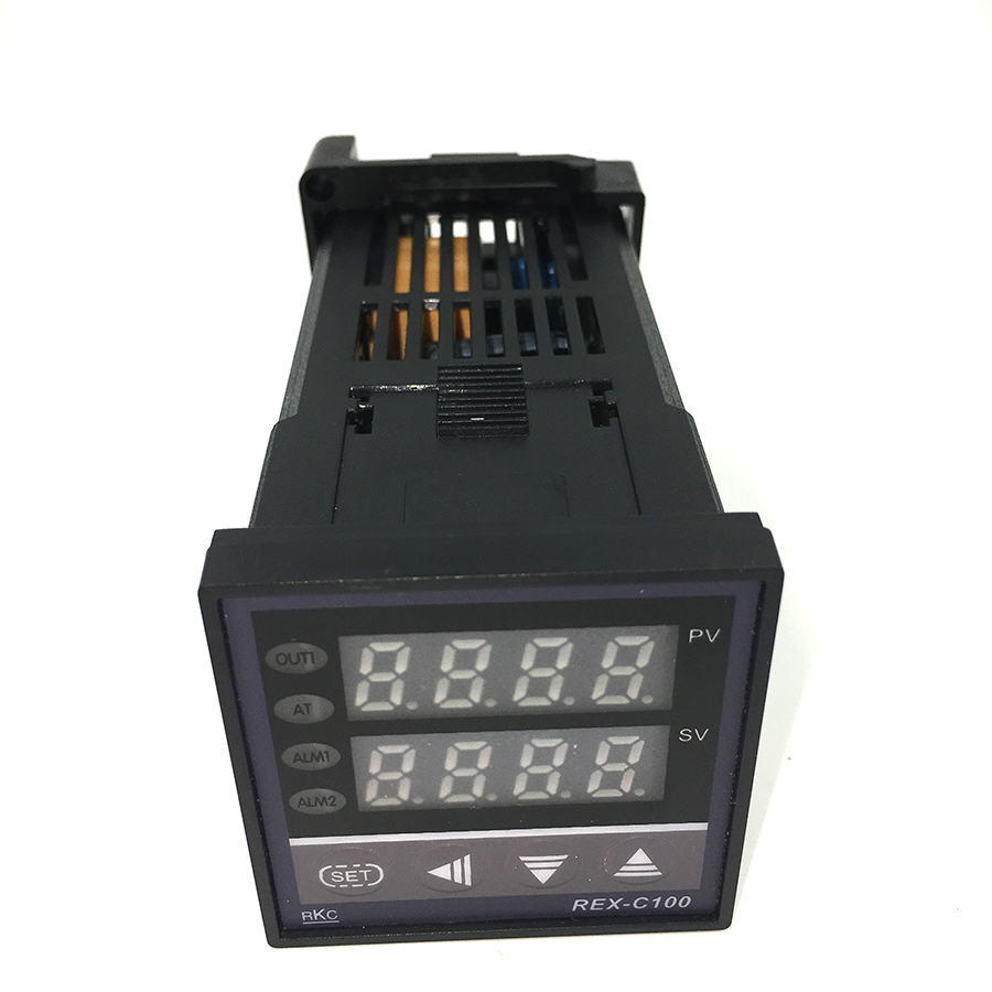 <font><b>REX</b></font>-C100 Digital RKC thermostat Temperature Controller SSR output <font><b>REX</b></font>-<font><b>C100FK02</b></font>-<font><b>V*AN</b></font> 48*48 k type image