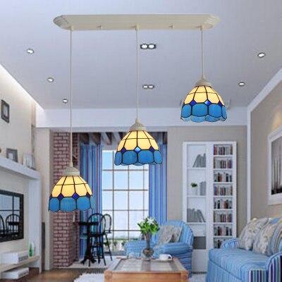 Földközi-tenger modern LED-es üveg üveg függő lámpák - Beltéri világítás