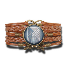 Attack on Titan Vintage Leather Bracelet
