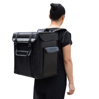 Profesional 21L para llevar tipo mochila aislamiento paquete de entrega para llevar bolso de pizza alimentos refrigerados Caja impermeable maleta Bolsas de enfriamiento     -