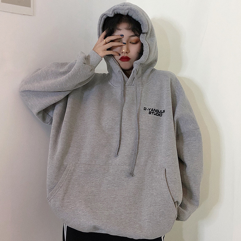Fashion Sweatshirt Women 2020 Autumn Clothing Korean Ulzzang Harajuku Streetwear Fleece Hooded Sweatshirts Female Hoodie Tops