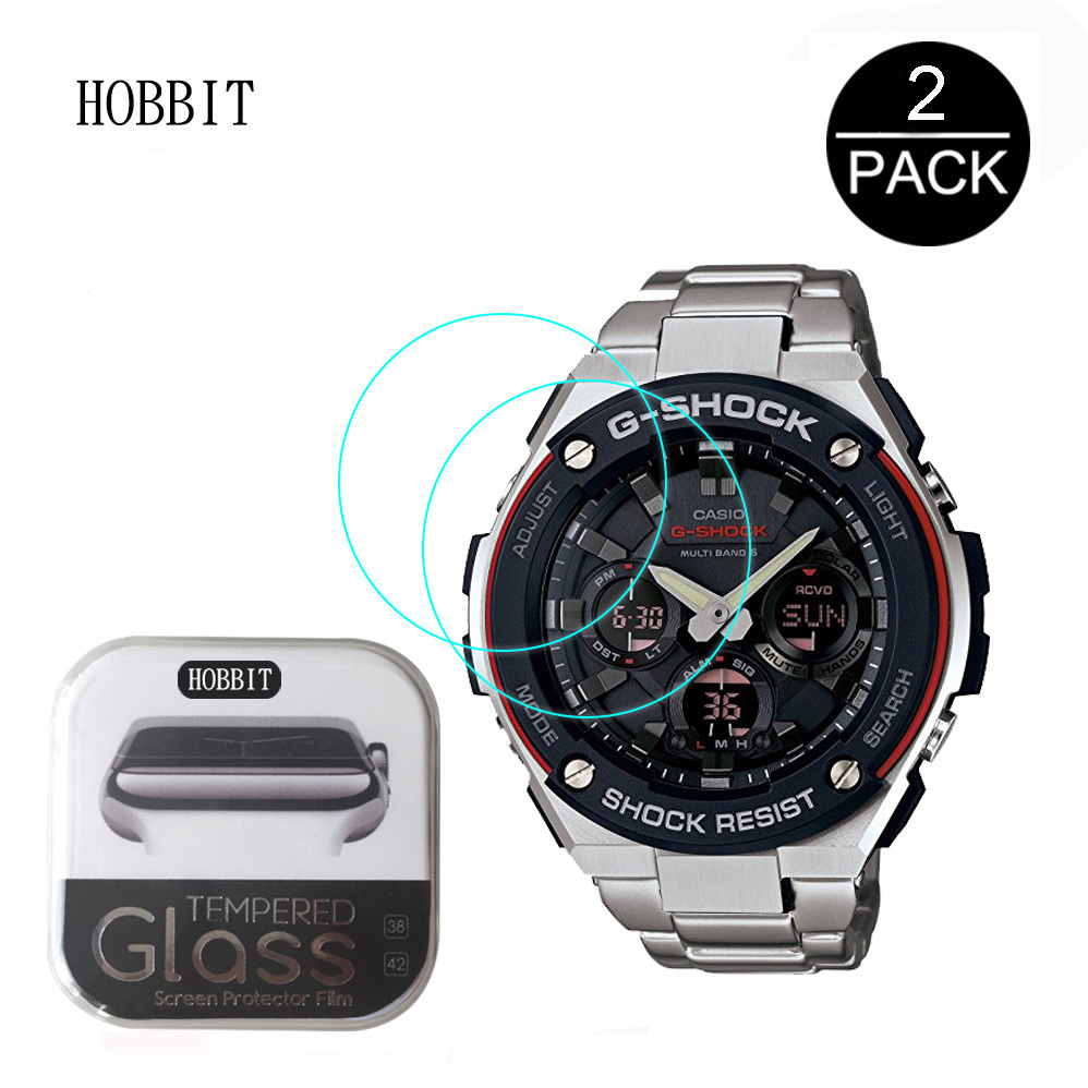 2PACK For Casio GST-W110-1A2 Smartwatch Film 0.3mm 2.5D 9H Clear Tempered Glass Screen Guards Protective Film For Casio Film