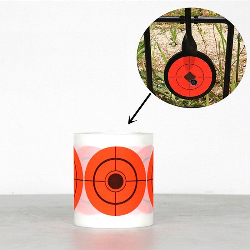 250Pcs Outdoor Shooting Training Target Paper Self Adhesive 7.5 Diameter Target Stickers