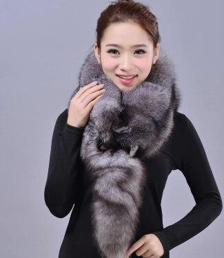2015 the latest silver fox fur scarf