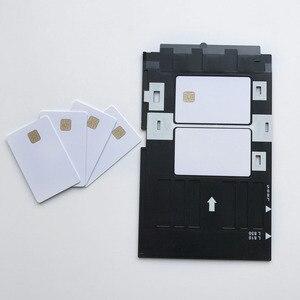Image 4 - 50 개/몫 빈 잉크젯 인쇄 가능한 sle4428 칩 카드 연락처 pvc 카드 신용 카드 크기 인쇄 엡손 또는 캐논 잉크젯 프린터